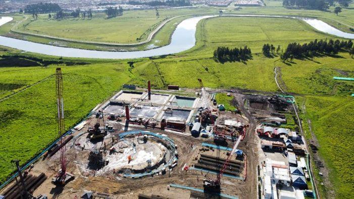 A toda marcha avanza la construcción de la Estación Elevadora de Canoas en Soacha