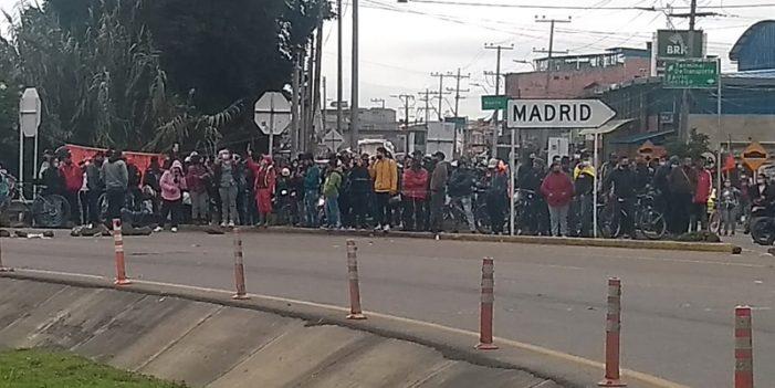 Cundinamarca continúa con bloqueos en vías de 11 municipios