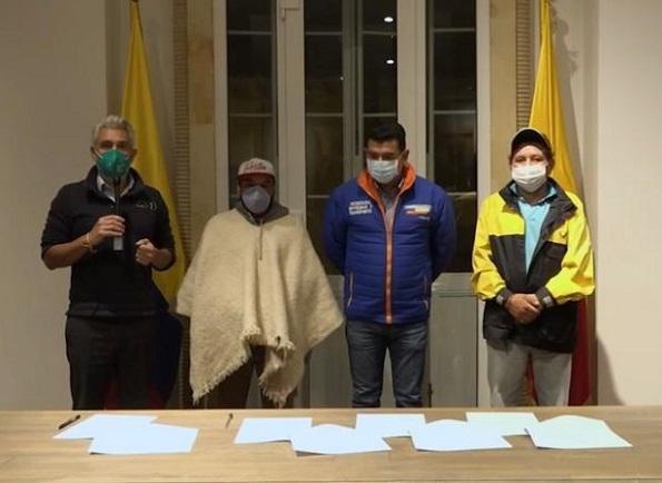 Gobernación de Cundinamarca logra levantar el bloqueo de volquetas en la región Bogotá-Cundinamarca