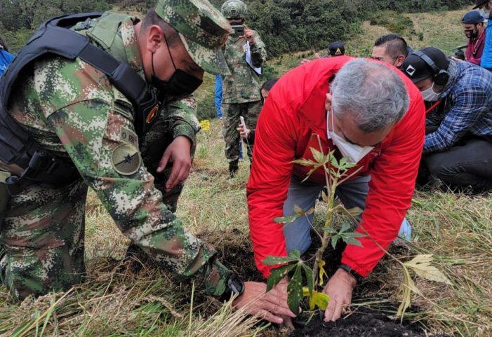 Alquería sembrará más de 3.000 árboles nativos en la Reserva Nukuma del Páramo de Guerrero