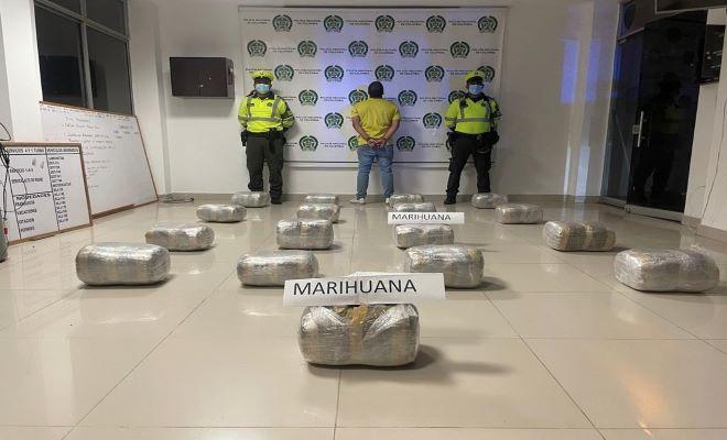 Capturan narcotraficante con 100 kilos de marihuana en vía de Cundinamarca