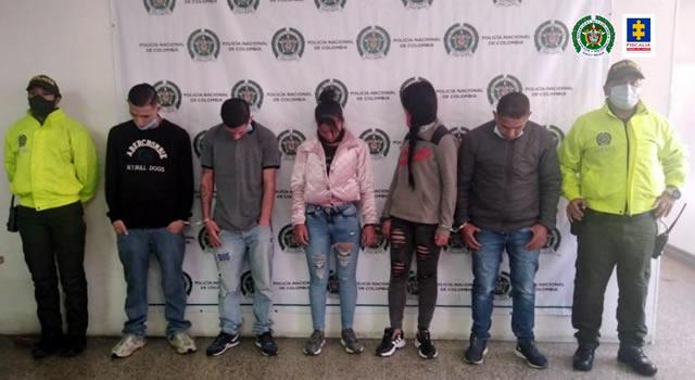 Desmantelan banda delincuencial dedicada al hurto en Soacha y la localidad de Bosa