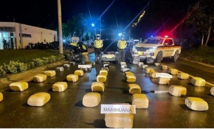 Policía de Carreteras incauta media tonelada de marihuana en la vía Girardot – Bogotá