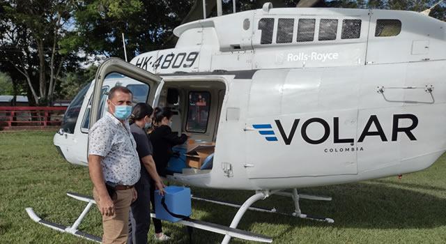 Cundinamarca primer departamento con helicóptero para traslado de vacunas contra Covid-19