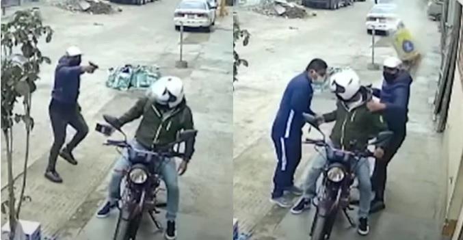 Bulto de cemento caído del cielo frustra ataque de ladrones