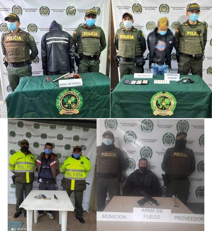 Capturas por porte ilegal de armas de fuego y munición en Soacha