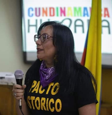 Alexandra Vásquez Ochoa, líder soachuna, candidata por el Pacto Histórico a la cámara por Cundinamarca