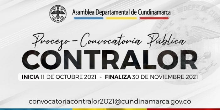Convocatoria pública para la elección del Contralor de Cundinamarca
