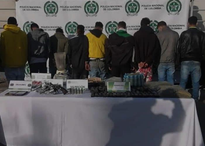 Capturados 9 venezolanos sindicados de tráfico de estupefacientes en Ciudadela Sucre